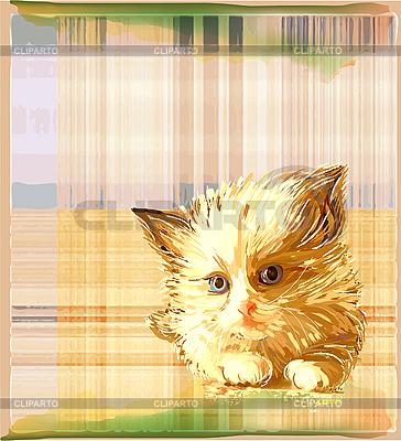 Ginger kitten   Stock Vector Graphics  ID 3077500