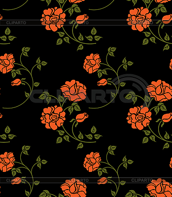 Seamless flower texture in Russian folk style | Stock Vector Graphics |ID 3078659