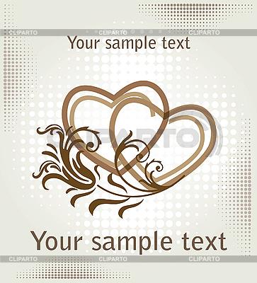 마음 발렌타인 카드 | 벡터 클립 아트 |ID 3078687