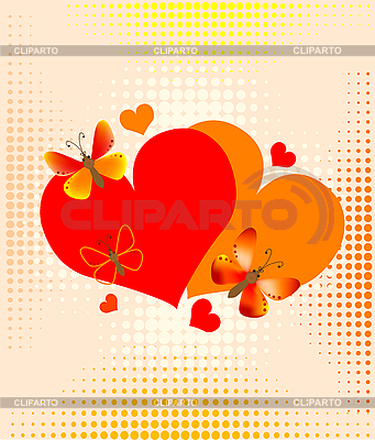 Valentine's card with hearts | Stock Vector Graphics |ID 3080305