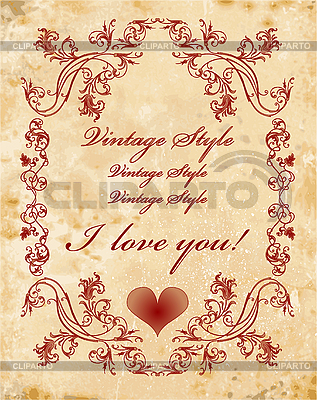 Vintage valentines day card | Stock Vector Graphics |ID 3080321