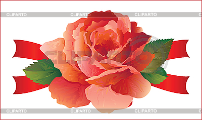 Rose with ribbons | Stock Vector Graphics |ID 3081566