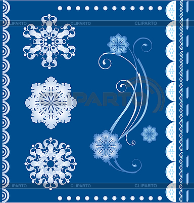 Winter card with snowflakes | Stock Vector Graphics |ID 3081994