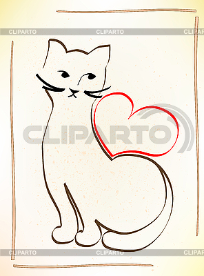 Cat is waiting for your love | Stock Vector Graphics |ID 3082022