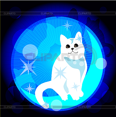 Dreaming cat | Stock Vector Graphics |ID 3082326