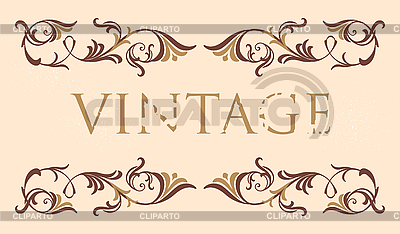 Vintage floral frame | Stock Vector Graphics |ID 3146827