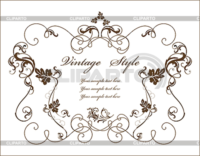 Vintage floral frame | Stock Vector Graphics |ID 3158736