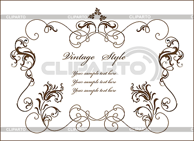 Vintage floral frame | Stock Vector Graphics |ID 3159287