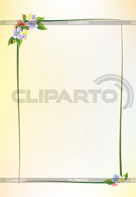 花のフレーム | ベクターイラスト |ID 3159291