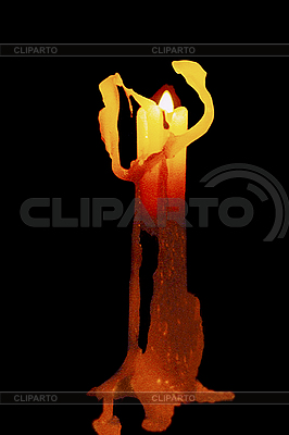 Burning candle   High resolution stock photo  ID 3045404