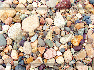 Multi-colored river rocks and pebbles | High resolution stock photo |ID 3045440