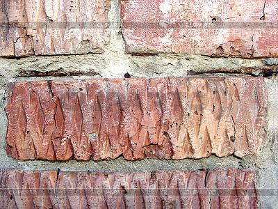 Roter Ziegel in der Wand | Foto mit hoher Auflösung |ID 3045456