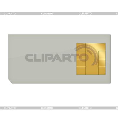 Karta SIM do telefonu komórkowego | Stockowa ilustracja wysokiej rozdzielczości |ID 3045499