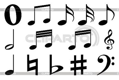 Musik-Zeichen - Noten und Schlüssel | Stock Vektorgrafik |ID 3059038