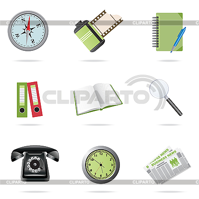 Business icons set   Stock Vector Graphics  ID 3045546