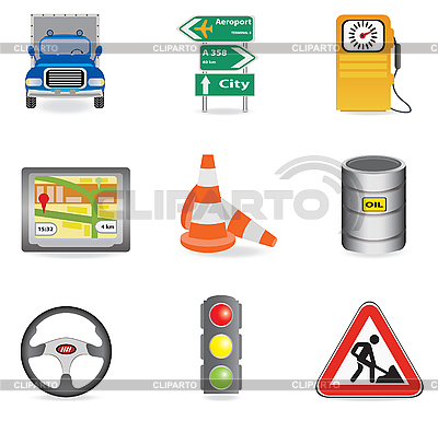 Traffic icons | Stock Vector Graphics |ID 3045560