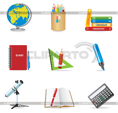 Education school icons | Stock Vector Graphics |ID 3045562