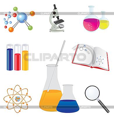 Iconos de laboratorio | Ilustración vectorial de stock |ID 3045570