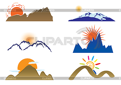 Mount and sun | Stock Vector Graphics |ID 3047370
