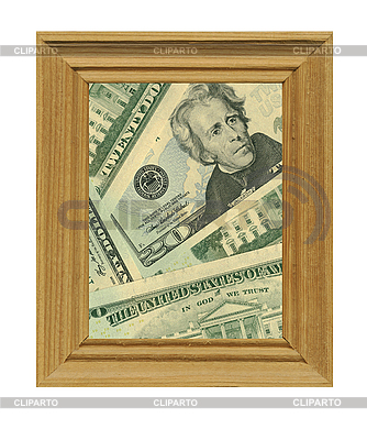 Wooden frame and money | High resolution stock photo |ID 3047384