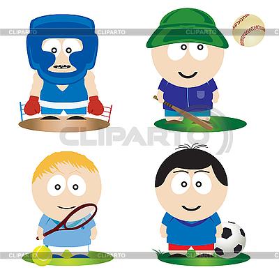 Sportsmen | Stock Vector Graphics |ID 3047389