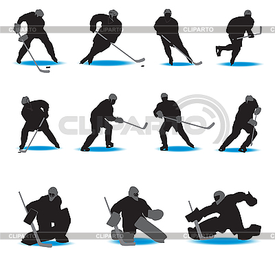 Hokej Sylwetki | Klipart wektorowy |ID 3116207