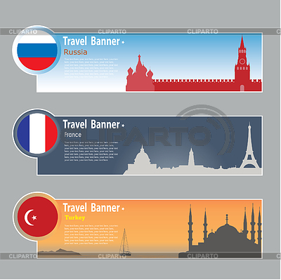 Travel banners | Stock Vector Graphics |ID 3341931
