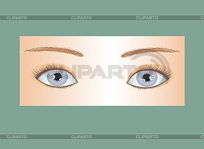 Niebieskie oczy | Klipart wektorowy |ID 3049071