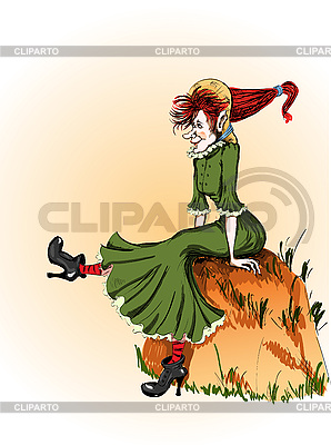 Wesoła czarownica | Klipart wektorowy |ID 3076699