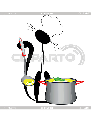 Cat cook | Klipart wektorowy |ID 3047070