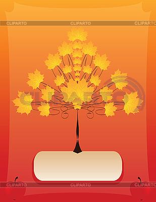Stylizowane drzewo jesień | Klipart wektorowy |ID 3047102