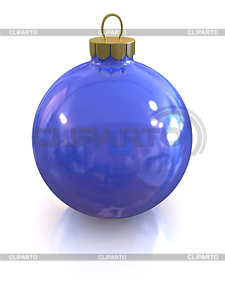 Blue christmas glossy ball isolated | High resolution stock illustration |ID 3047915