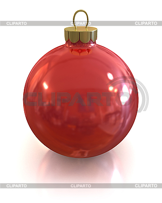 Red christmas shiny ball isolated | High resolution stock illustration |ID 3047917