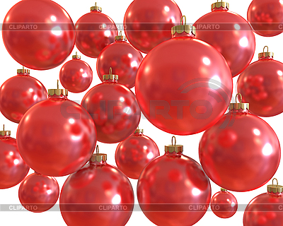 Red christmas shiny balls isolated   High resolution stock illustration  ID 3047922