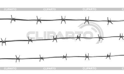 Barbed wire three lines | High resolution stock illustration |ID 3047930