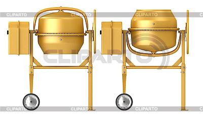 Gelber Betonmischer | Illustration mit hoher Auflösung |ID 3047990