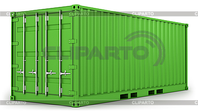 Green freight container isolated | High resolution stock illustration |ID 3047994