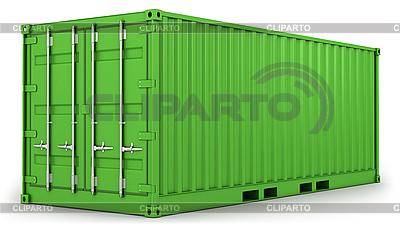 Zielony kontener samodzielnie | Stockowa ilustracja wysokiej rozdzielczości |ID 3047994