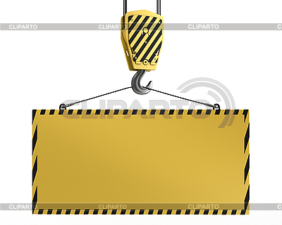Kranhaken mit leerer Fläche für Text | Illustration mit hoher Auflösung |ID 3048023