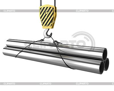 Crane hakowce się kilka rur | Stockowa ilustracja wysokiej rozdzielczości |ID 3048025