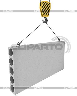 Kranhaken hebt Betonplatte | Illustration mit hoher Auflösung |ID 3048026