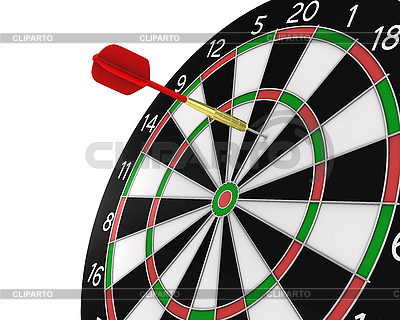 Dart missed the center | High resolution stock illustration |ID 3048038