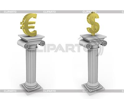 Kolumny z objawami waluty | Stockowa ilustracja wysokiej rozdzielczości |ID 3048047