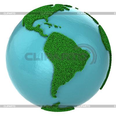 Grasglobus mit Südamerika | Illustration mit hoher Auflösung |ID 3048082