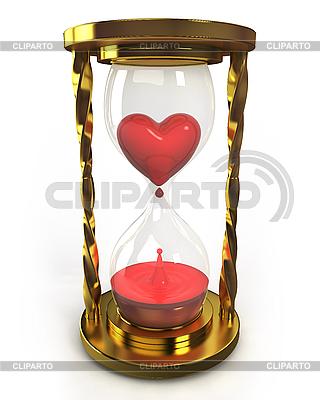 심장과 혈액 황금 모래 시계 | 높은 해상도 그림 |ID 3048123