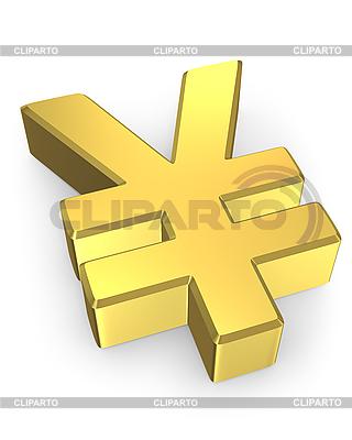 Golden yen sign   High resolution stock illustration  ID 3048234