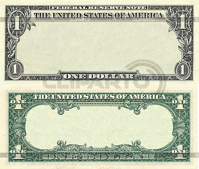 Clear 1 dollar banknote pattern | High resolution stock photo |ID 3048914