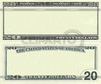 Clear 20 dollar banknote pattern | High resolution stock photo |ID 3048916