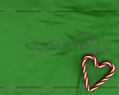 Heart made from christmas candy canes | High resolution stock illustration |ID 3048917