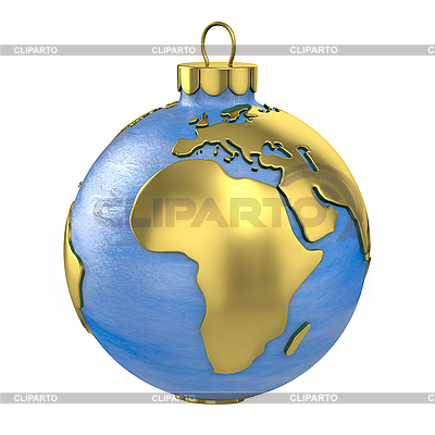 Weihnachtskugel als Globus oder Planeten geformt, Afrika Teil   Illustration mit hoher Auflösung  ID 3126782